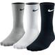 Nike Lightweight Crew Hardloopsokken 3-Pack grijs/zwart